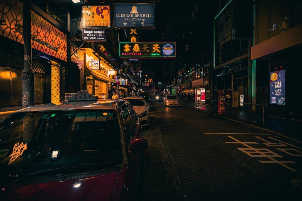 hong kong empty streets